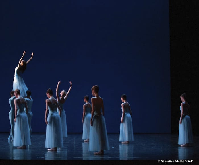 This tribute to the art of Balanchine brings together three works of pure dance from the choreographer's first American period. Three ensemble ballets in which bodies resonate like the instruments of an orchestra...