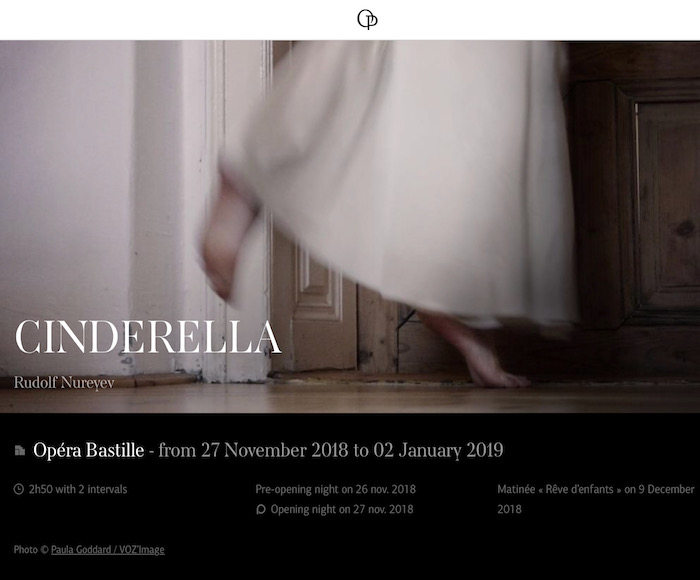 Charles Perrault's celebrated tale, set to music by Sergei Prokofiev, is transposed to a film set. In a series of references to the heroes of the American cinema, Rudolf Nureyev propels his Cinderella under the spotlights of Hollywood.