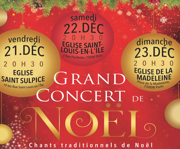 Great Christmas Concert - Traditional Christmas Songs - Choeurs, Solistes, Orchestre et participation du public - Direction Hugues Reiner