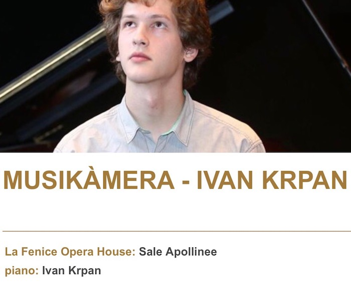MUSIKÀMERA - La Fenice Opera House: Sale Apollinee - piano: Ivan Krpan - Busoni piano Competition 2017 - excerpts from Beethoven, Busoni, Liszt