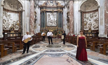 Baroque music concert and guided tour in the church of Sant'Agnese in Agone, a jewel of Rome located in Piazza Navona.