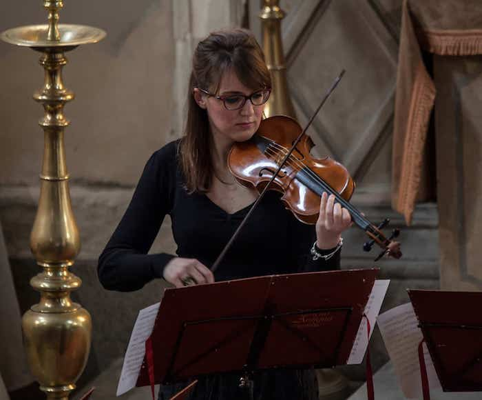 Venice Music Project is happy to feature the sweet sounds of the Baroque violin in   chamber music by the great Venetian masters. Chiara Arzenton, Violin - Liesl Odenweller, Soprano - Venice Music Project Ensemble