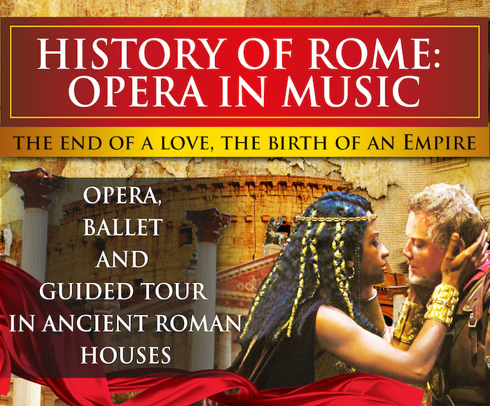 Get the greatest feelings of love, passion, betrayal, envy, jealousy and a bit of madness… included a GUIDED TOUR in ancient roman houses.