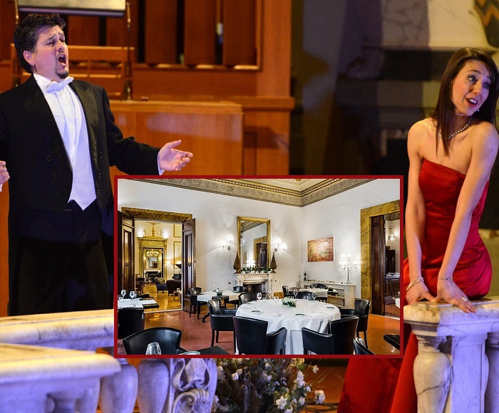 Soprano and Tenor will perform the best of Italian Opera. Before you will enjoy a Typical Tuscan Dinner at Guelfi and Ghibellini Restaurant