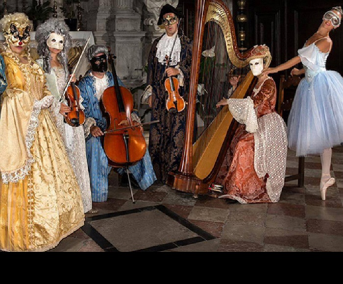 Enchanting Opera Arias and Ballet with Musicians, Singers and Dancer in 17th Century costumes.